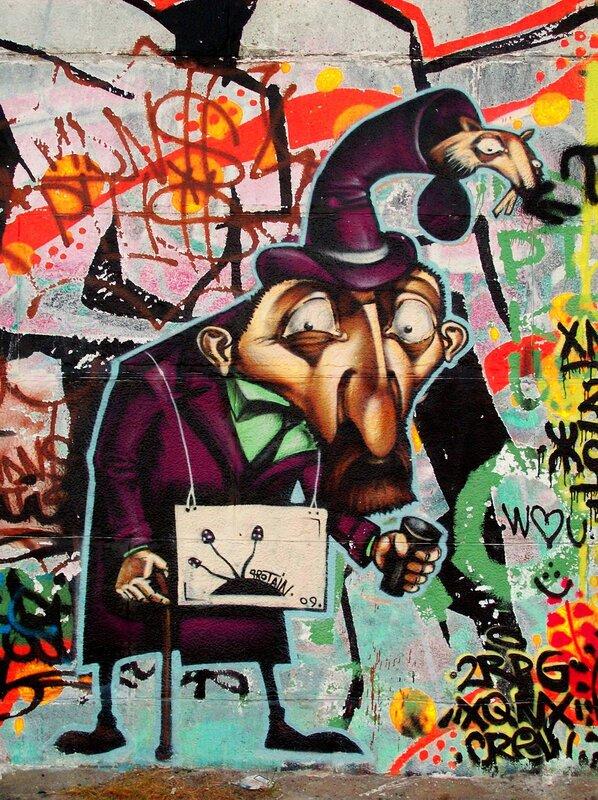 нищий граффити