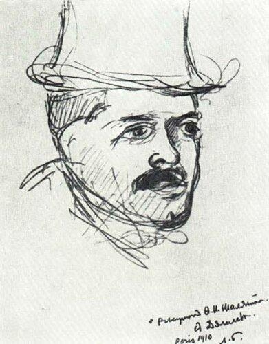Дягилев С.П. Рисунок Шаляпина, 1910