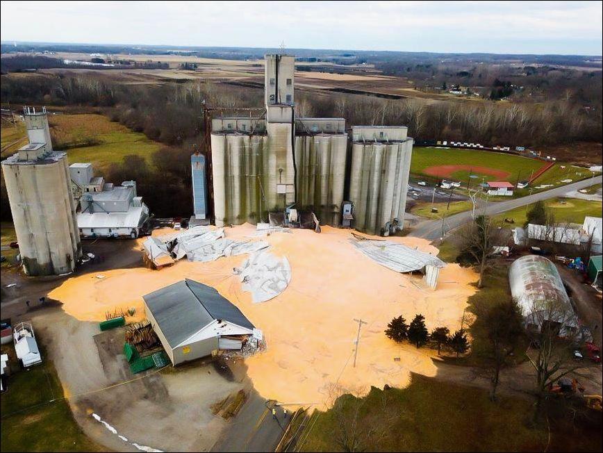 Когда лопнуло зернохранилище