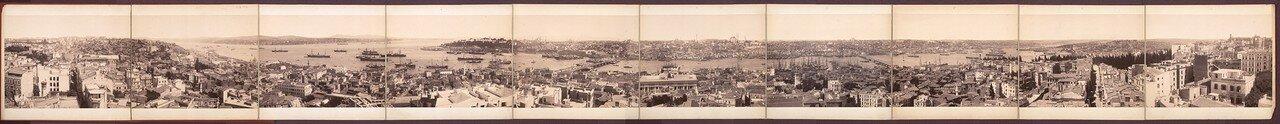 1880-е. Панорама Константинополя с башни Галата