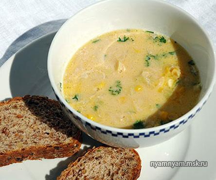 Суп овощной с молоком