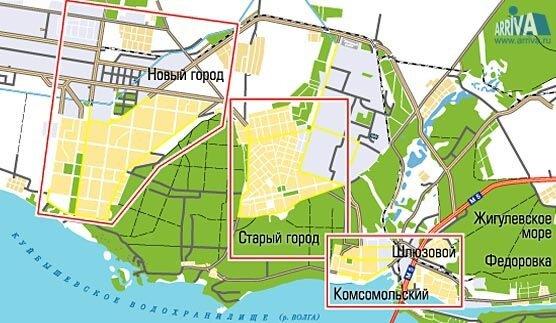 Карта Жигулевска Со Спутника
