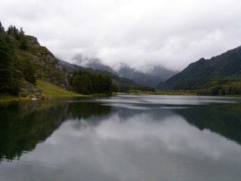 Река Чемал перед ГЭС