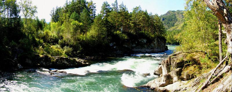 Река Чемал после ГЭС