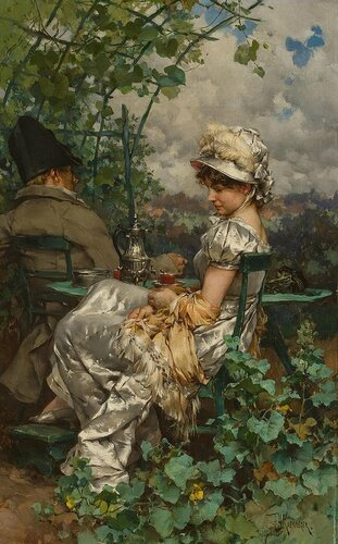 Frederik Hendrik Kaemmerer - Afternoon Tea in the Garden