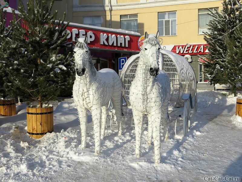 Лошади и карета