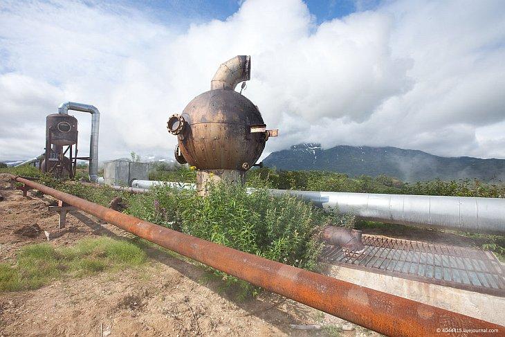 Геотермальная электростанция на Камчатке (32 фото)