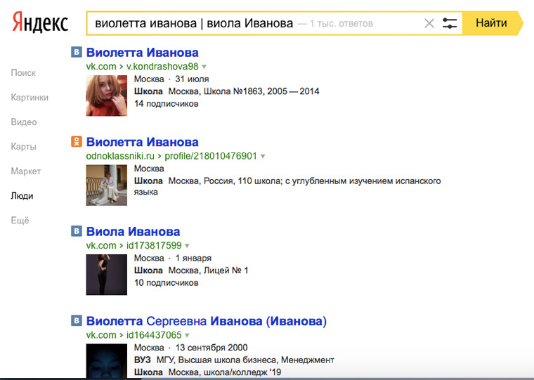 15 фишек для сбора информации о человеке в интернете.