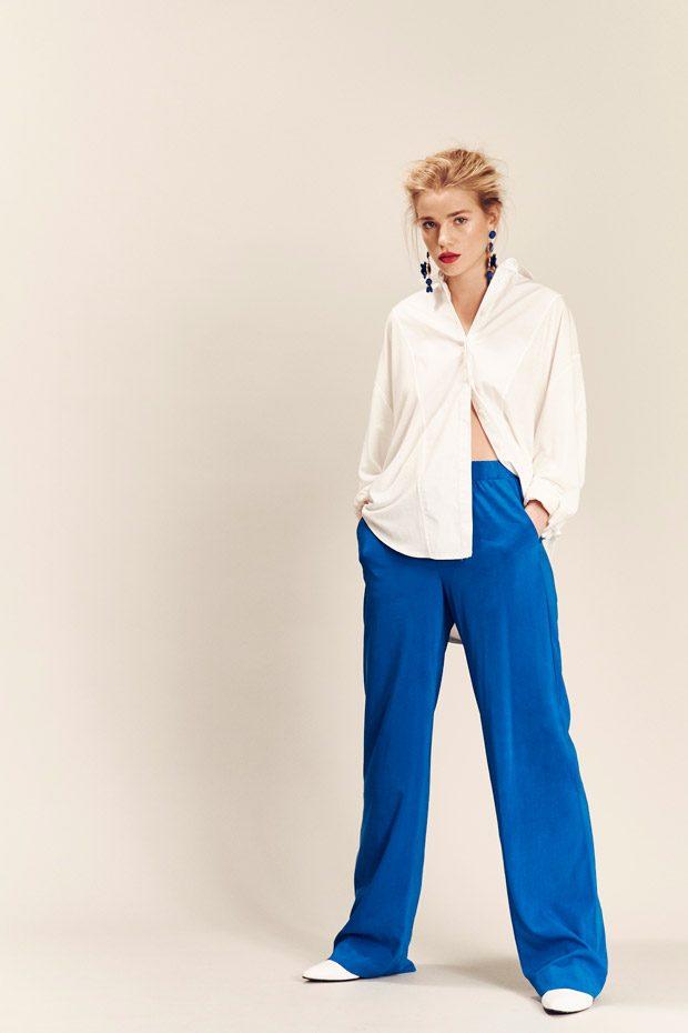Shirt: Mango Trousers: Asos Shoes: Gestuz Earrings: Asos   Model: Grace Hodge a