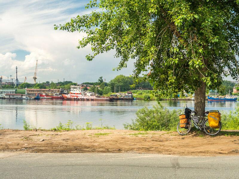 На реке Кузнечихе.