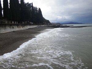 У моря Чёрного, в Абхазии, время зимнее, Новогоднее (23).JPG