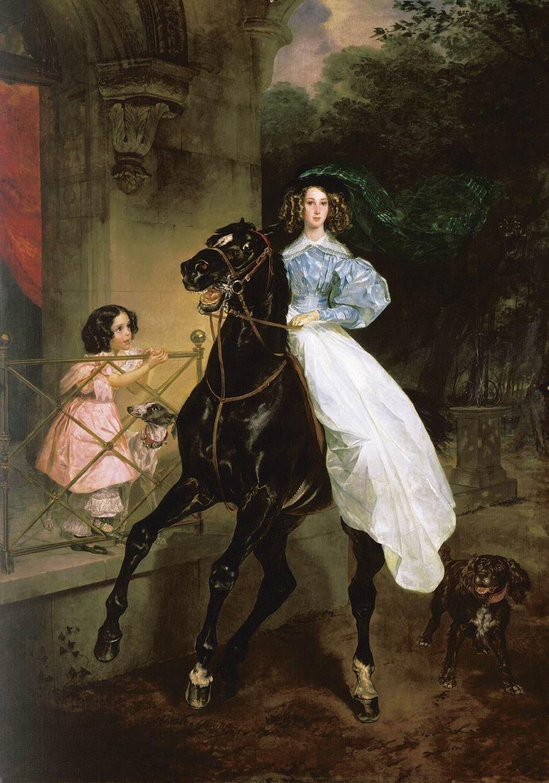Всадница.1832. Третьяковская галерея.