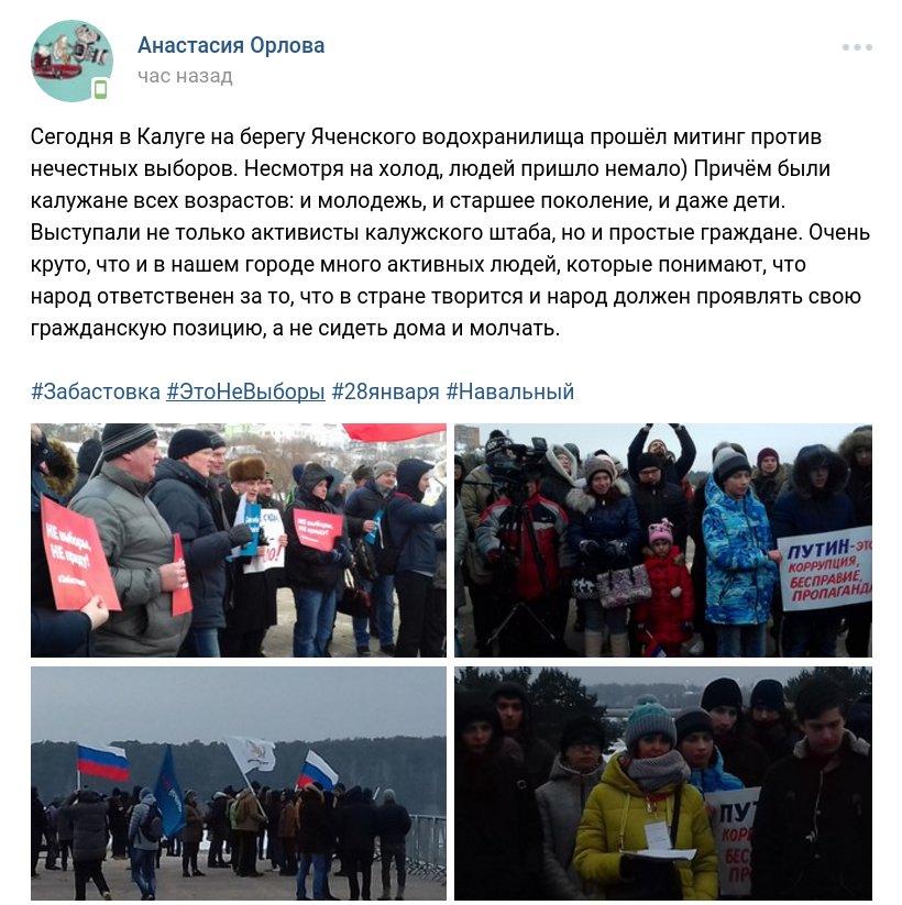 Забастовка Навального 28.01.2018 - 30