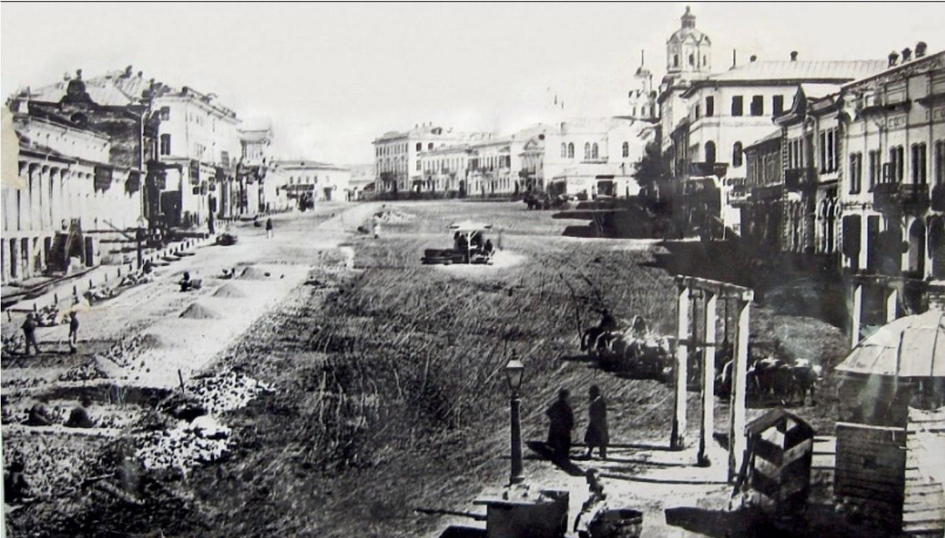 Вид на Николаевскую площадь до 1881 года