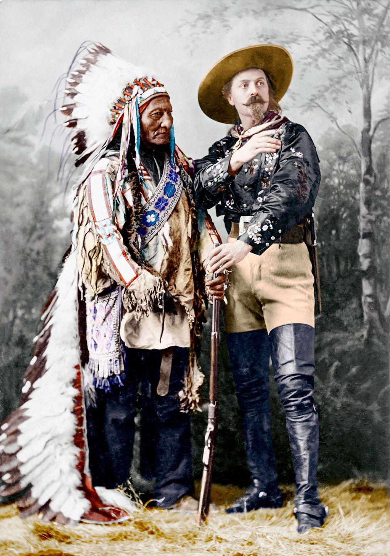 1885. Сидящий Бык и Буффало Билл
