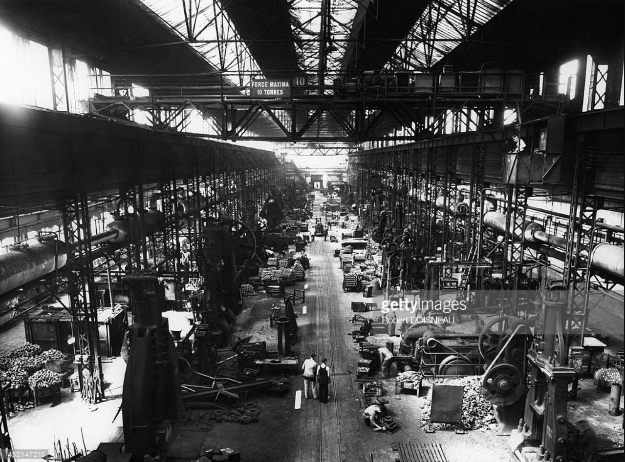 1952. Общий вид завода Рено. Булонь-Бийанкур