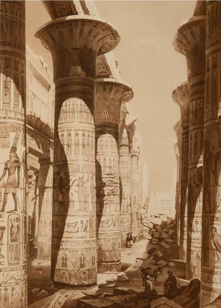 1841. Карнак. Колонны гипостильного зала