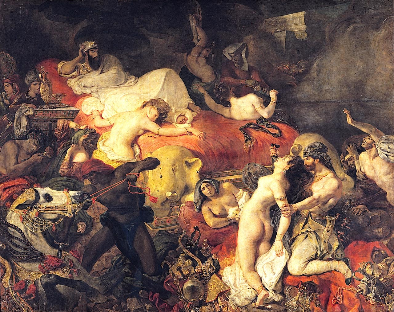 Делакруа. Смерть Сарданапала. 1828,  Delacroix, Death of Sardanapalus,