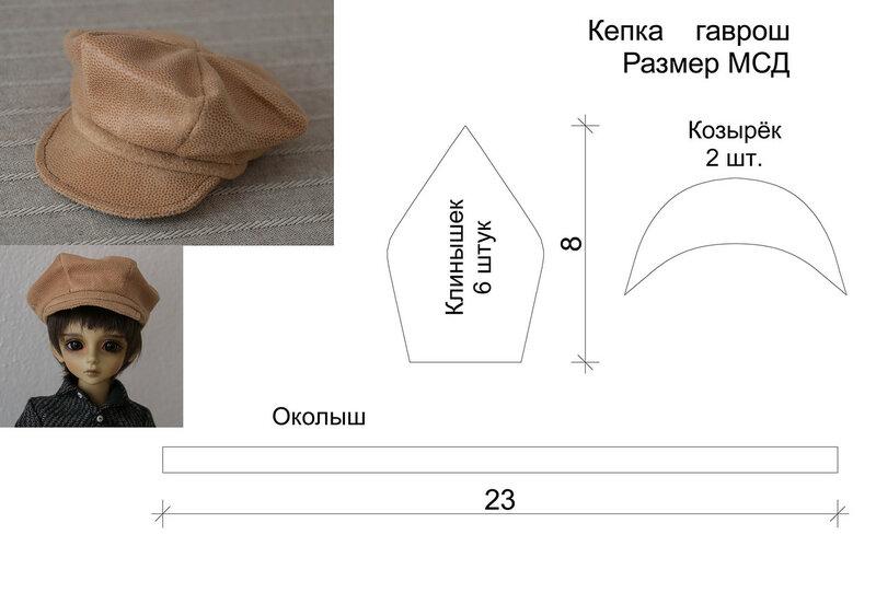 Как сделать кепку на куклу