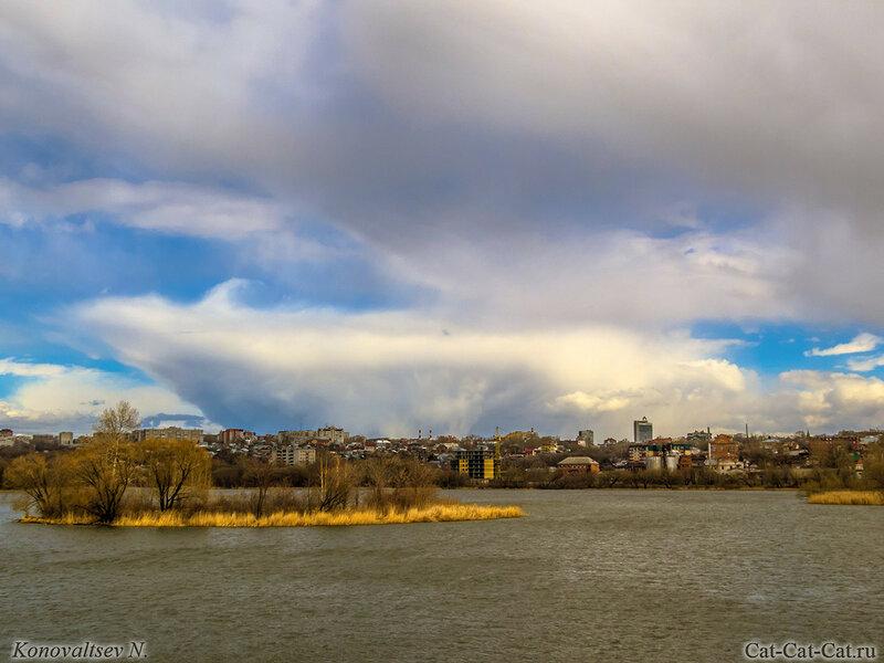 Необычные облака над Свиягой, Ульяновск