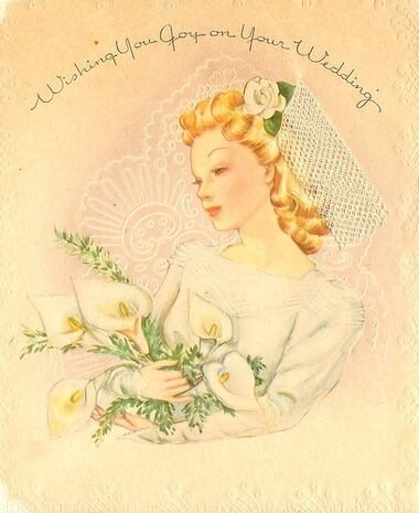 Винтажные свадебные открытки