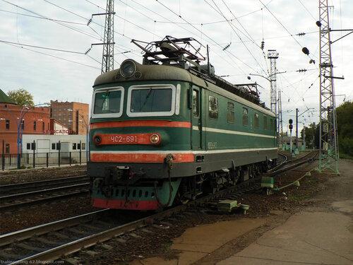 Электровоз ЧС2 на станции Рязань-II