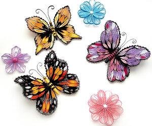 Квиллинг.МК по изготовлению бабочек.  1. Цветная бумага - если вам лень вырезать каждый кусочек бумаги...