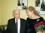 В. К. Мержанов со своей ученицей – заслуженной артисткой России, профессором Н. Деевой