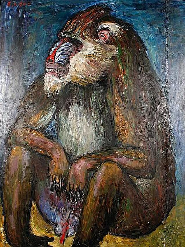 Mandrill. Emmanuel Levy (1900 - 1986)