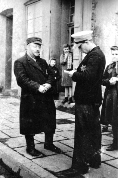 Jewish police order police in the Trzebinia ghetto..jpg