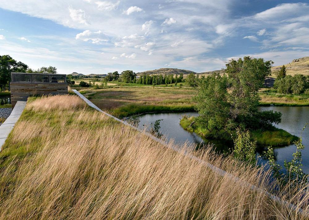 Современное ранчо в штате Монтана