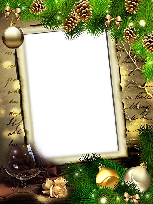 Новогодние рамки для фото png