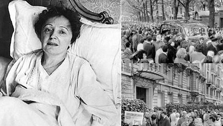 19. 10 октября 1963 года Эдит Пиаф умерла. Ее хоронила вся Франция, и оплакивал весь мир — вместе с