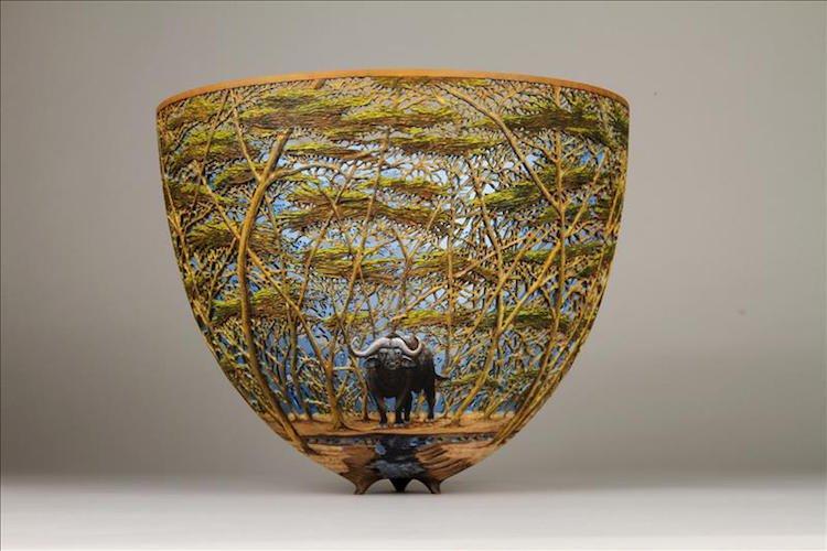 Восхитительные вазы ручной работы с природными мотивами