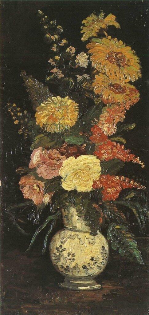 Винсент Ван Гог. Ваза с астрами, сальвиямии другими цветами..jpg