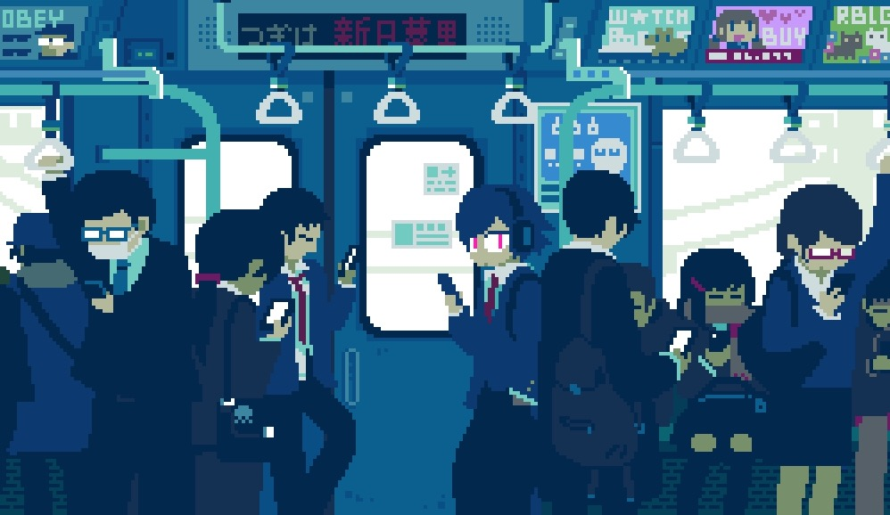 Creative 8-Bits GIFs of Daily Life in Japan (11 pics)