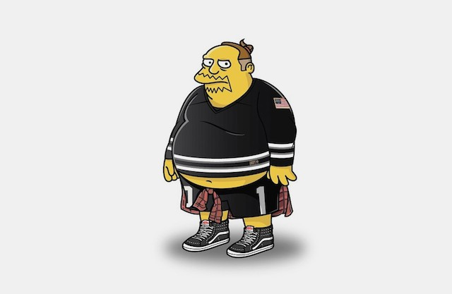 Simpsons in Streetwear by Tommy Bates