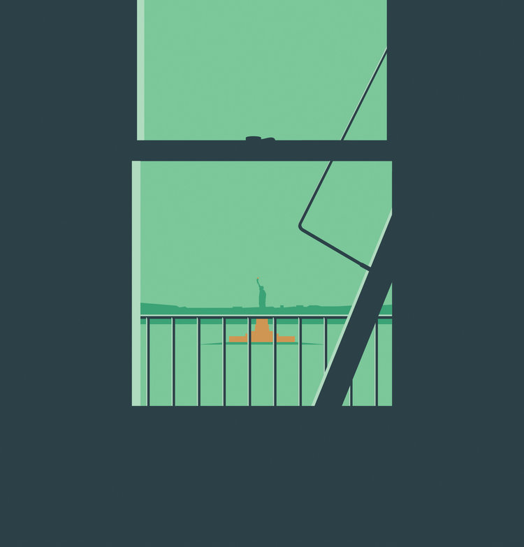 Minimalistic Illustrations by Ben Wiseman