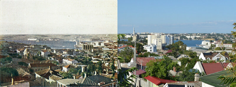 Севастополь на снимке Прокудина-Горского 1905 г. и 112 лет спустя