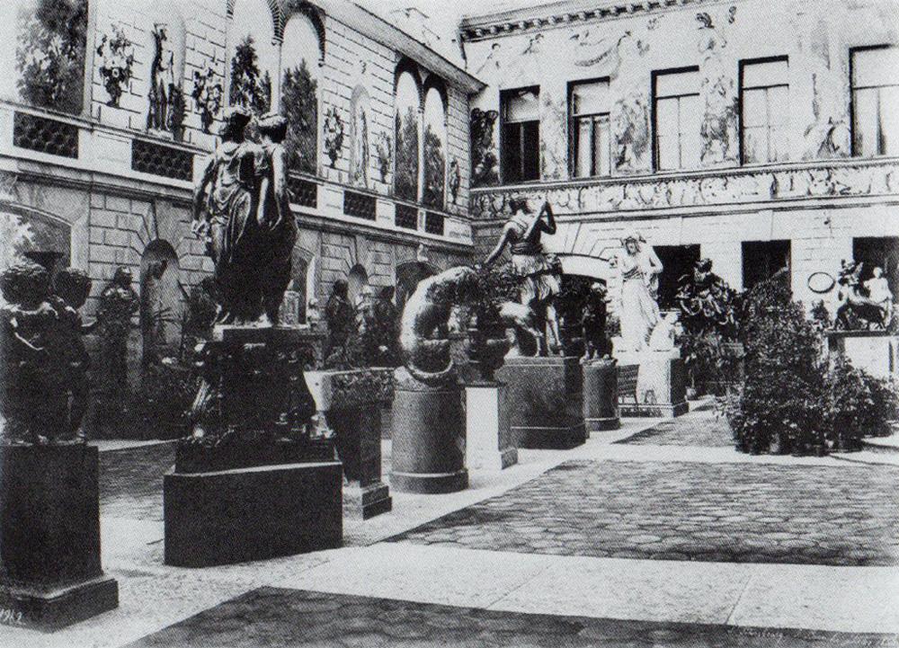1853. Двор в доме Монферрана на Мойке