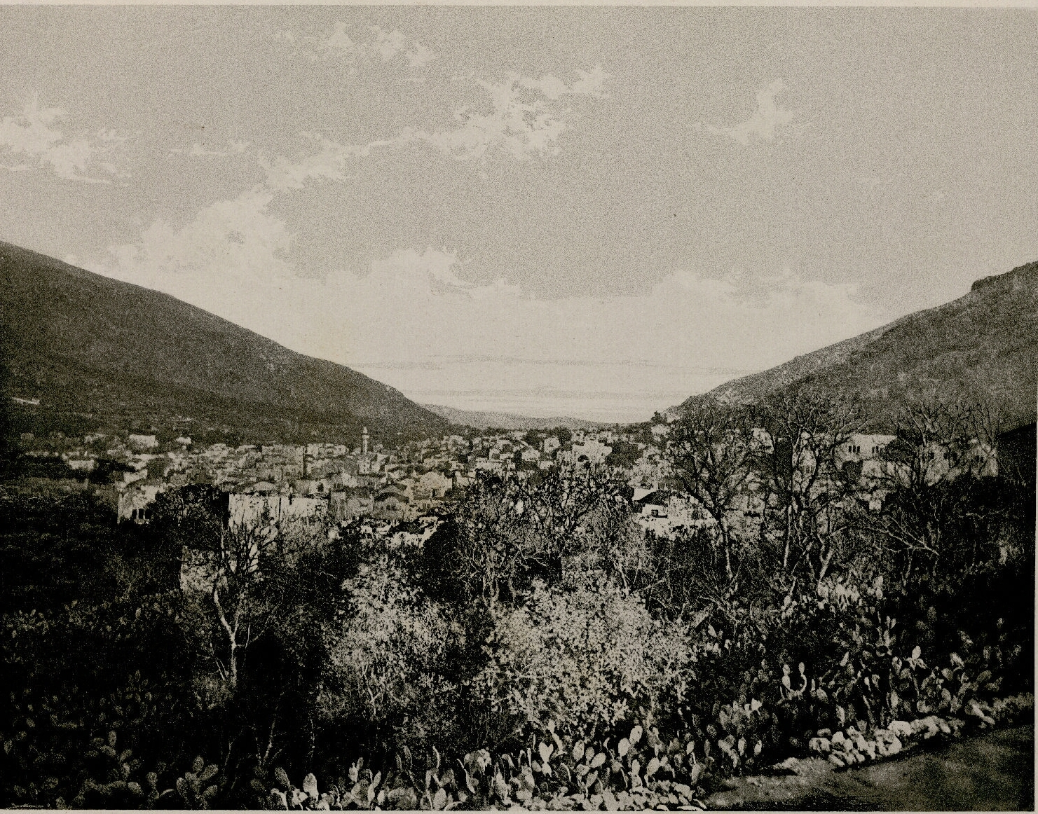 20. Шхем. Подножие гор Гаризим и Гевал