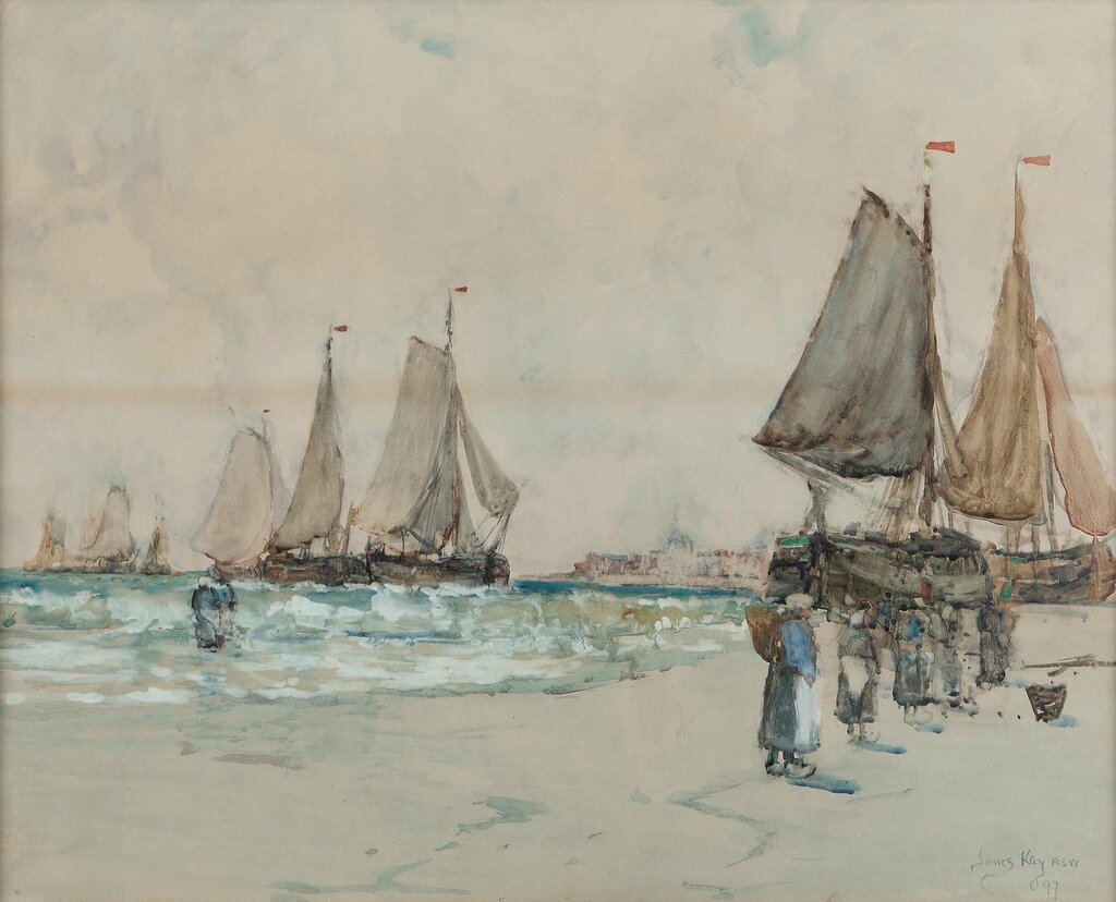 Unloading the Boats, 1897.jpg