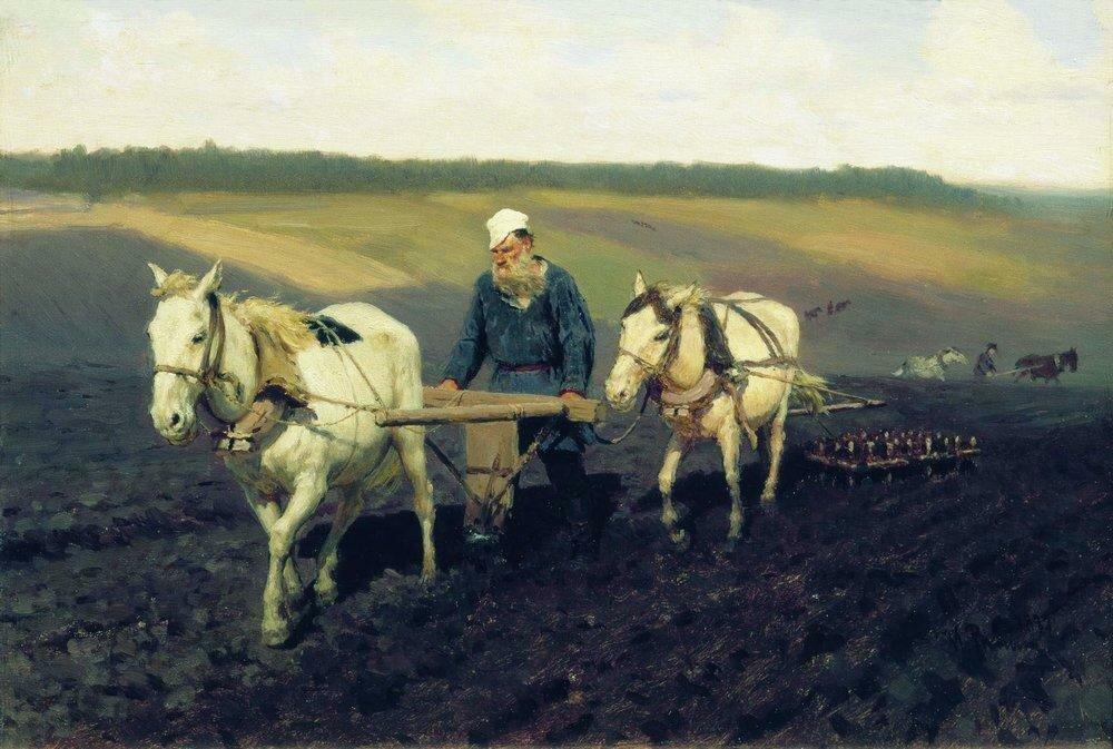 Пахарь. Л.Н.Толстой на пашне. 1887.jpg