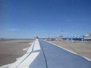 Аэропорт Симферополь. Вид из самолёта