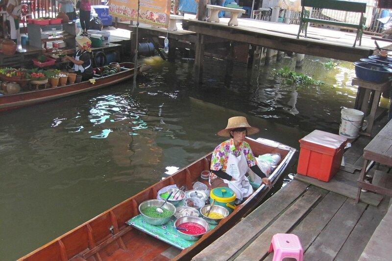 Плавучий рынок Талинг Чан, Бангкок, Таиланд