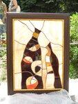 Витражное панно, картины из стекла