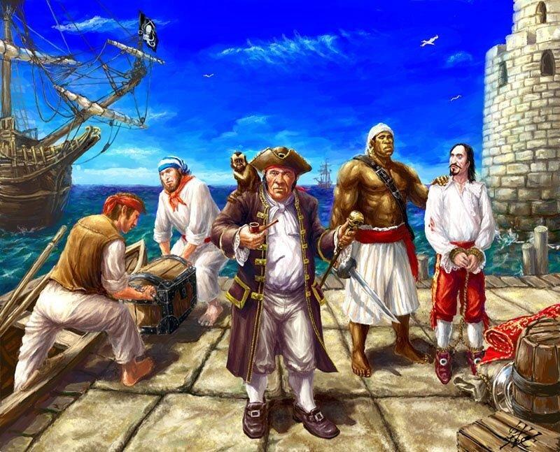Картинка в прошлой жизни я была пираткой