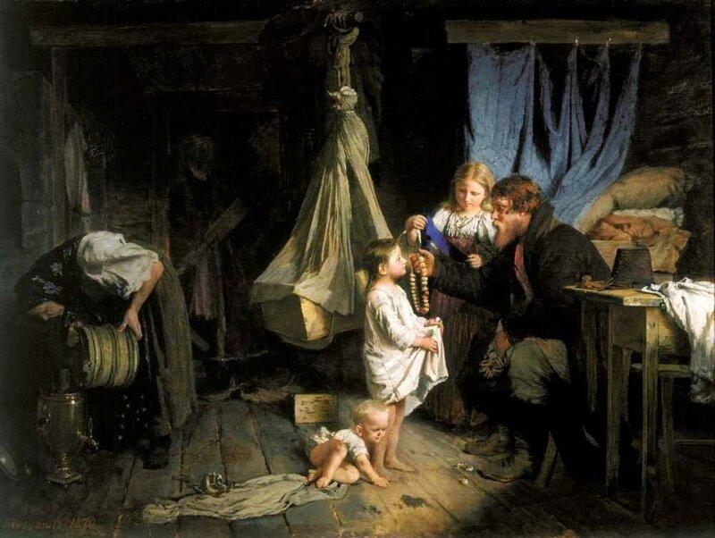 Корзухин Алексей Иванович. Возвращение из города. 1870