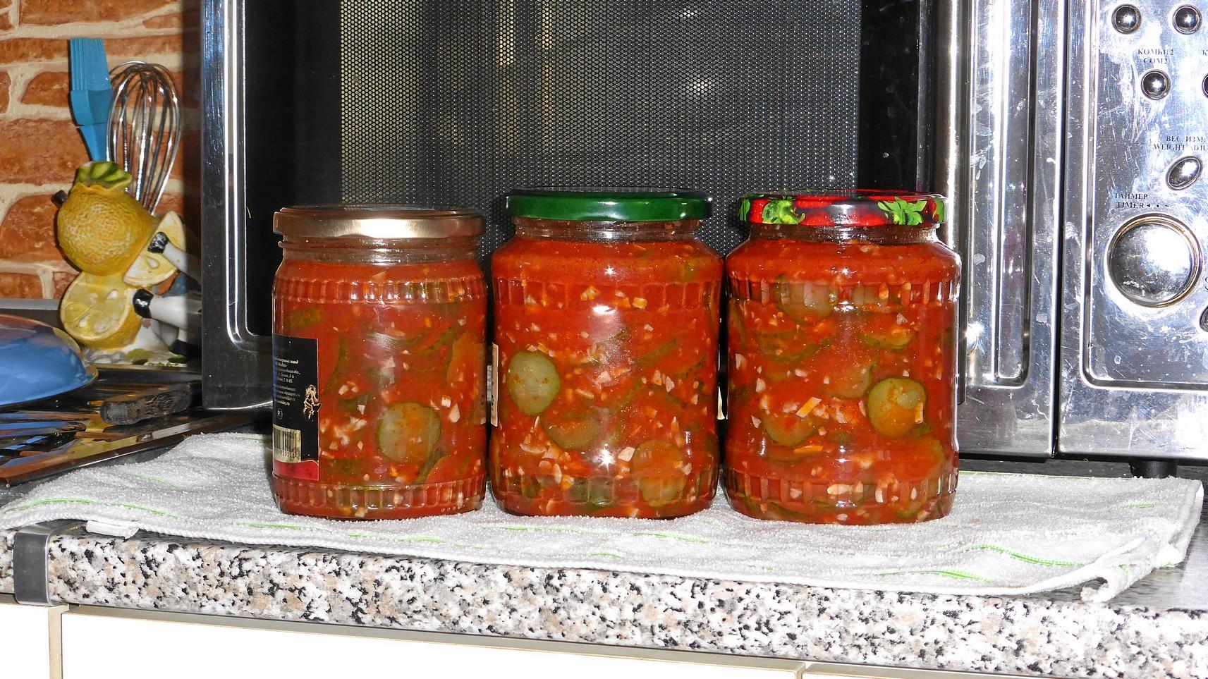 Видео рецепт заготовки в томатной пасте с чесноком.