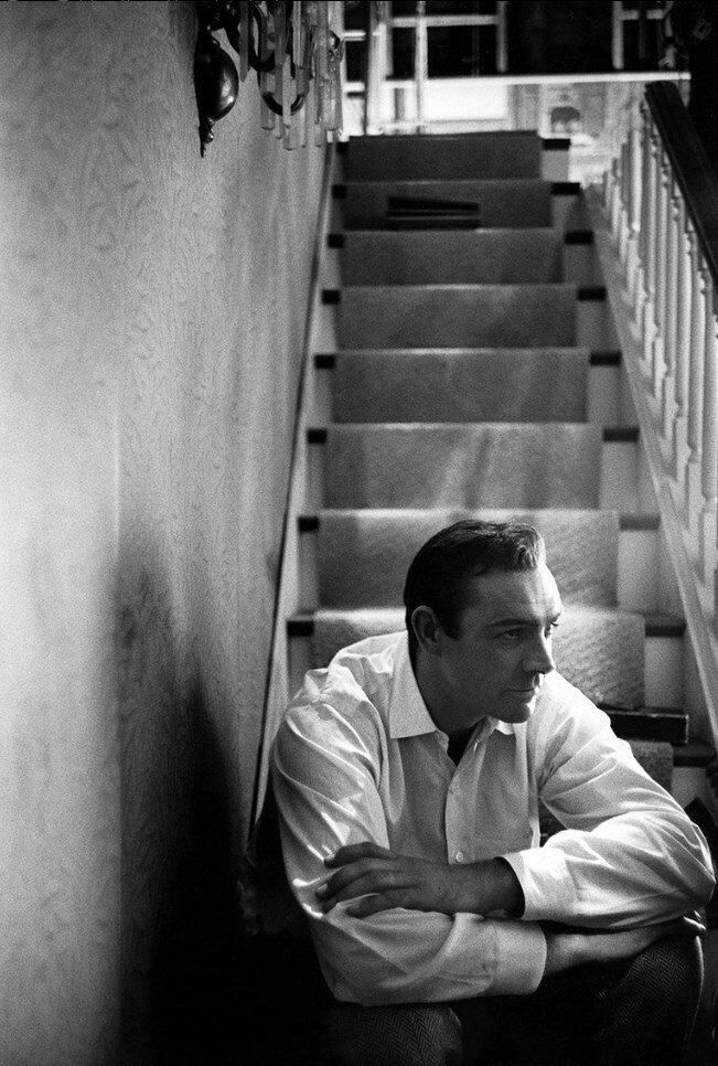1964. Шон Коннери в студии Universal на съемках «Марни»